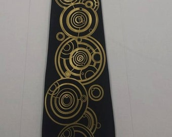 The Doctors Name in Gallifreyan Mens NeckTie