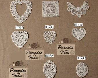 8 lace applied cotton flower heart Decoration