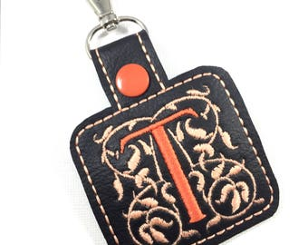 Monogram Keyfob - personalized keyring - luggage tag - monogrammed accessory - best gifts for her - clip on tag - travel accessories
