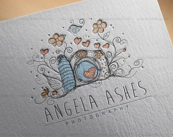 Custom Premade Logo Design Package - Photography logo - fancy photography design - Business Logo Branding business card, etsy banner