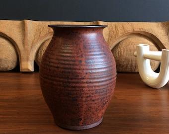 Signed Studio Stoneware Vessel