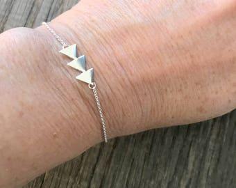 Bracelet 925 sterling silver three simple arrows