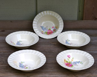 Edwin M. Knowles Spring Bouquet Bowls