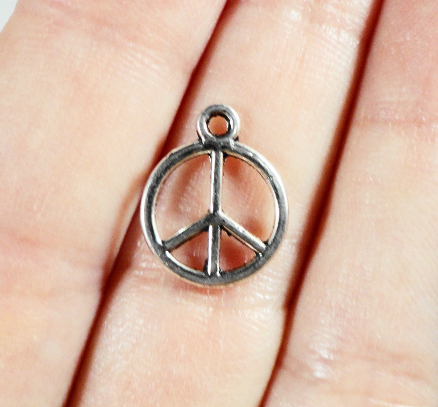 15pcs peace sign charms 14x11mm silver metal peace sign pendants 260 audiocablefo