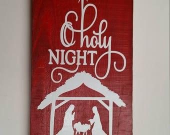 rustic christmas wood sign