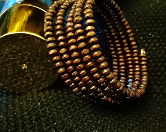 COCONUT beads or napkin ring Cuff Bracelet gift