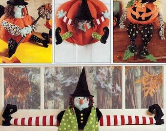 Halloween Witch - Draft Buster Pattern - Witch Jack O Lantern - Witch Pumpkin -  McCalls Fun Craft Patterns 7806