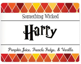 Harry Potter | The Boy Who Lived | Pumpkin Juice & Treacle Fudge Scented | Inspired Candle