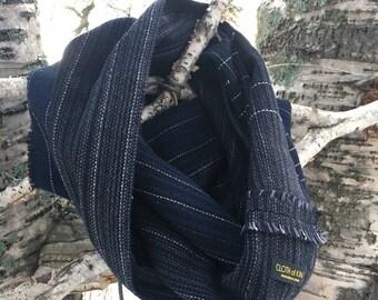 Wrap around scarf, infinity, cowl, circular scarf - linen/cotton