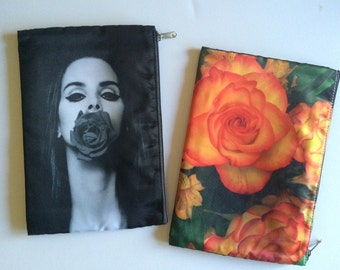 Lana Del Rey Floral Cosmetic Pouch (Large)