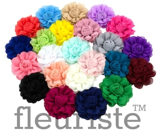 Choose colors Chiffon Flower, Wholesale Flower, Fabric Flower, Headband Flower, Wedding Flower, Flower for crafts, Diy Flower, DIY Headband