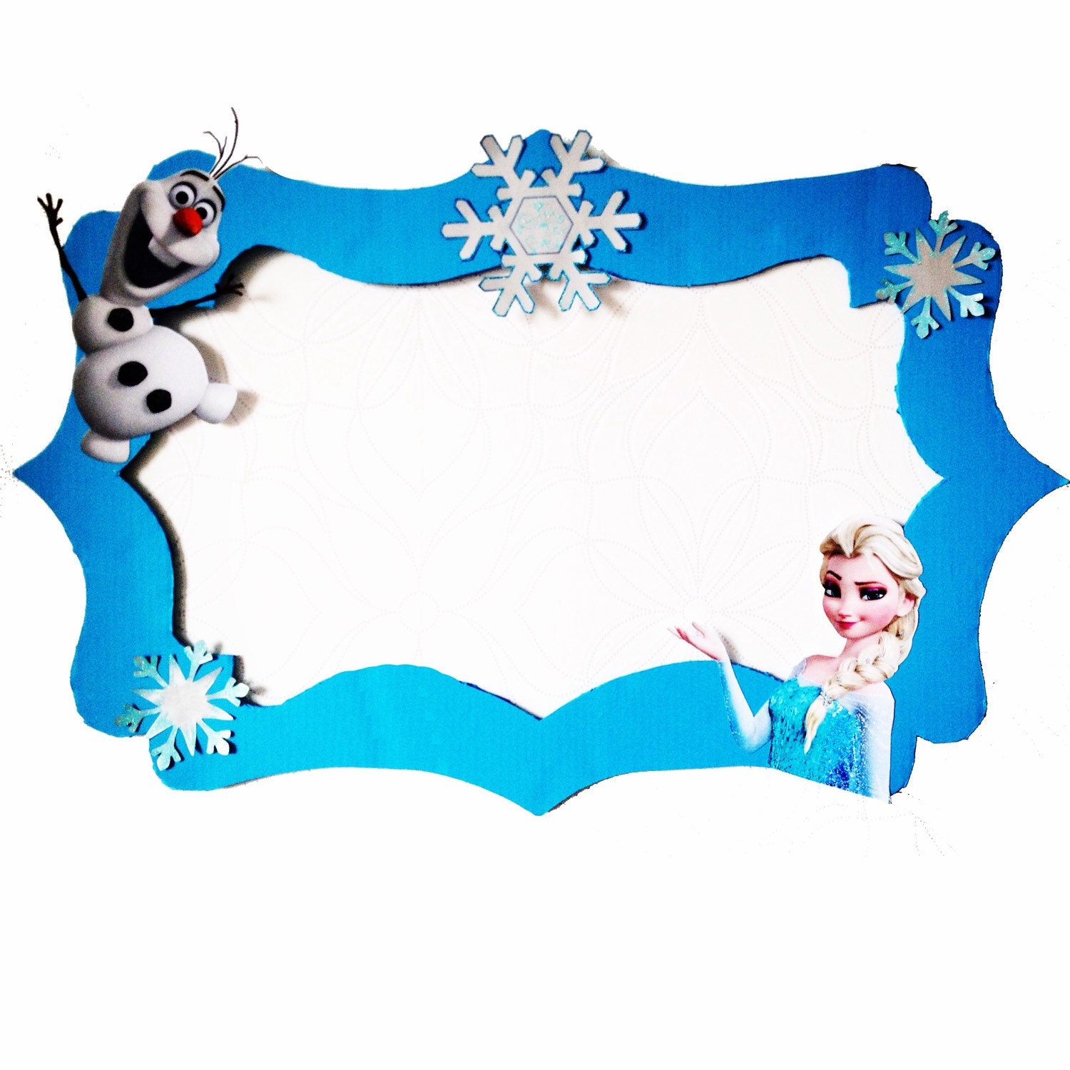 Frozen Elsa & Olaf Photo Booth Frame Party Prop to take