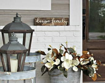 Personalized Family Name Sign- Rustic Home Decor- Family Established Sign- Last Name Sign- Personalized Sign- Wedding Gift- Custom Name Sign