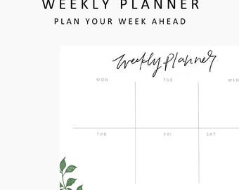 Weekly Planner printable,student planner printable,printable planner,hand lettering,printables,instant download,planner,student,productivity