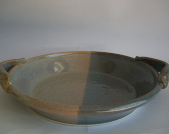 Hand thrown stoneware pottery serving platter   (SP-6)