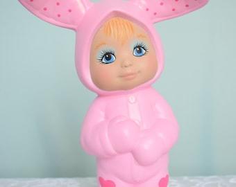 Easter Rabbit - Easter Bunny - Easter Decor - Nursery Decor - Bunny Ears - Pink Girl Bunny - Baby Bunny - Pink Bunny - Girl Rabbit