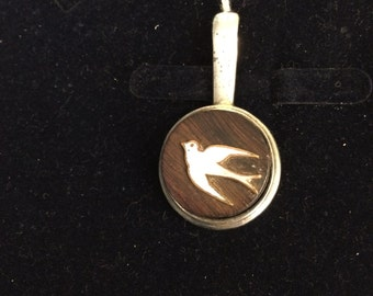Art Deco bird pendant