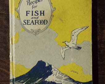Vintage 1927 fish and seafood recipe booklet