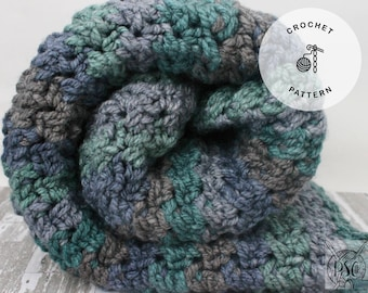 Crochet Pattern- Chunky Blanket- The Joy Throw- Instant Download- (PATTERN ONLY)