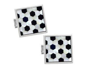 Black & White Shell Cufflinks