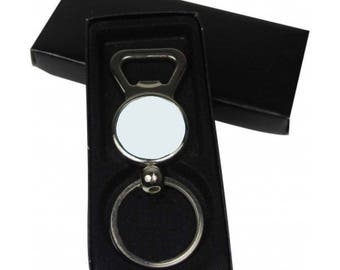 Lot 20 25mm bottle opener Keychain + its gift box
