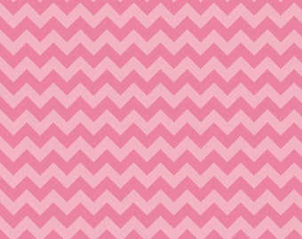 Hot Pink Tone on Tone Small Chevron Fabric from Riley Blake Designs - by the Yard - 1 Yard