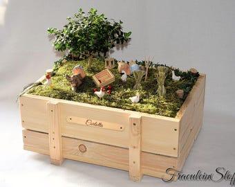 Fairy Garden Miniatur Mini Garten Feen Garten, Mit oder ohne Pflanzen / Namensschild Muttertag Muttertagsgeschenk