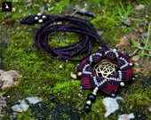 Macrame Mandala Necklace,...