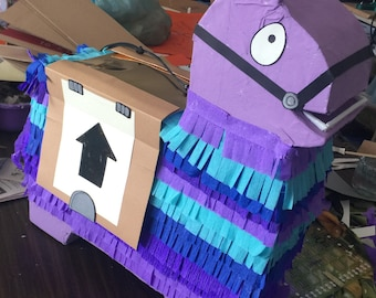 Super cute llama piñata in purple, 21 inches tall!  Perfect for your birthday loot