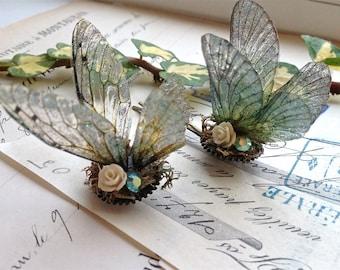 Pretty Faerie wing hair adornment