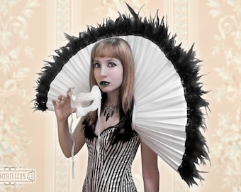 Elizabethan Collar with Feathers