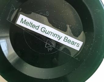 Melted gummy bears!