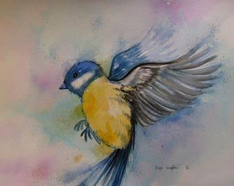 Bluetit high quality Fine Art Card