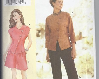 Vogue 7281 from 2007  Misses Assymetrical Top, Shorts and Pants. Sandra Betzina Today's Fit. Bust 46-55  UNCUT