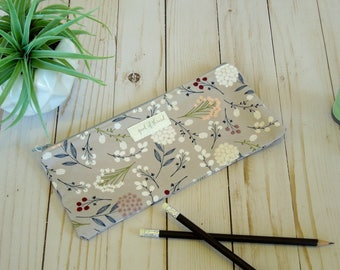 Floral Pencil Pouch/ Back to school/ Zip pouch
