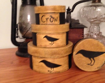 Primitive Crow Stacking Boxes
