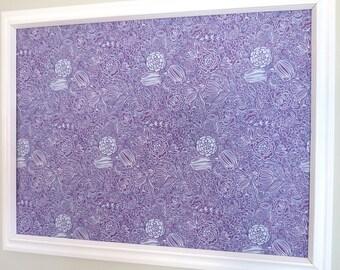 Purple Floral Pin Board Jewelry Board