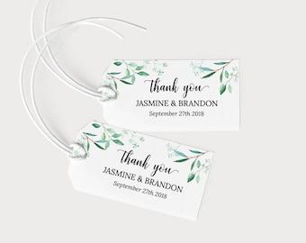 Wedding Favor Tags Printable, Wedding Favor Tags Template, Favor Tags Downloadable, Wedding Thank You Tags, PDF Instant Download #E031