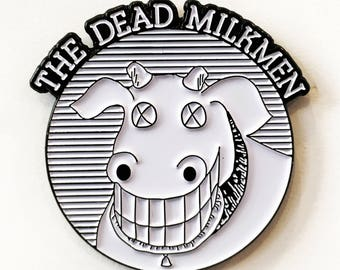 THE DEAD MILKMEN Cow Logo enamel pin