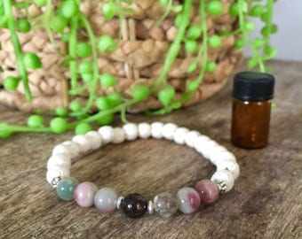 Aromatherapy Essential Oil Lava Diffuser Bracelet