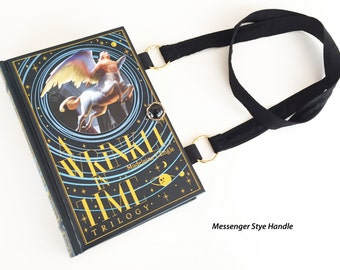 A Wrinkle In Time Book Purse - A Wind In The Door Book Cover Handbag - Purse made from a book - Wrinkle In Time Book Clutch - Literary Gift