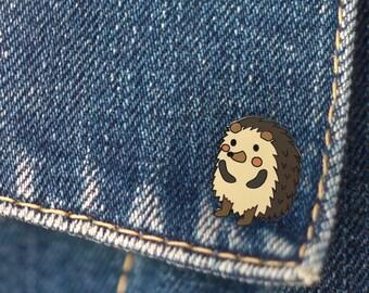BUY 1, GET 1 Random Pin Free! Hedgehog Enamel Pin Lapel Pin Pin Badge Cute Pin Hard Enamel Pin Animal Pin