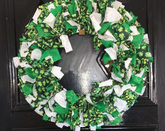 Saint Patricks Day Fabric Door Wreath