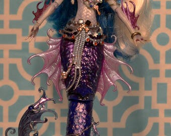 "OOAK Monster High ""Calypso the Angler Fish Mermaid"""