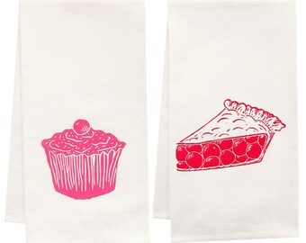 sweet treat organic tea towel set