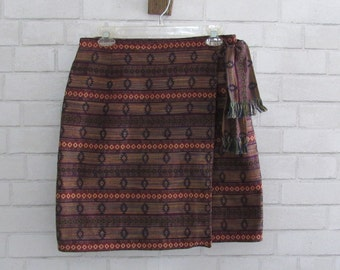 90s Tribal Wrap Skirt