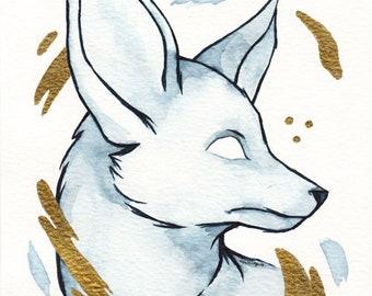Lost in Fox - Original watercolour artwork