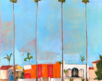 Termite Tent in Mission Hills, San Diego Landscape Painting