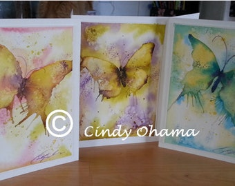 Butterfly Whimsy (Watercolor) by Cindy Ohama
