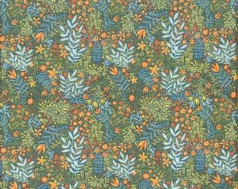 Blend Fabrics Fall Goodness Flower Skeletons in Navy - Half Yard